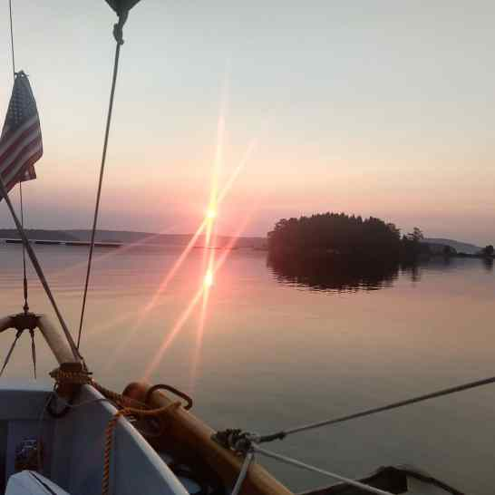 Sunrise at Clam Bay.