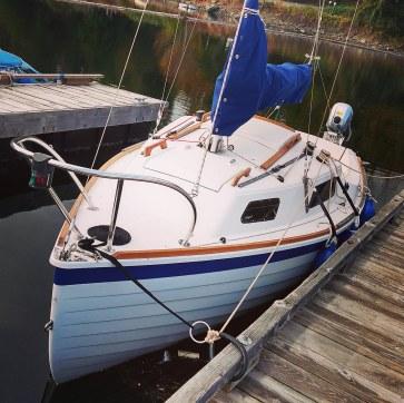 A Sage 17 at Ladysmith - I built this boat.