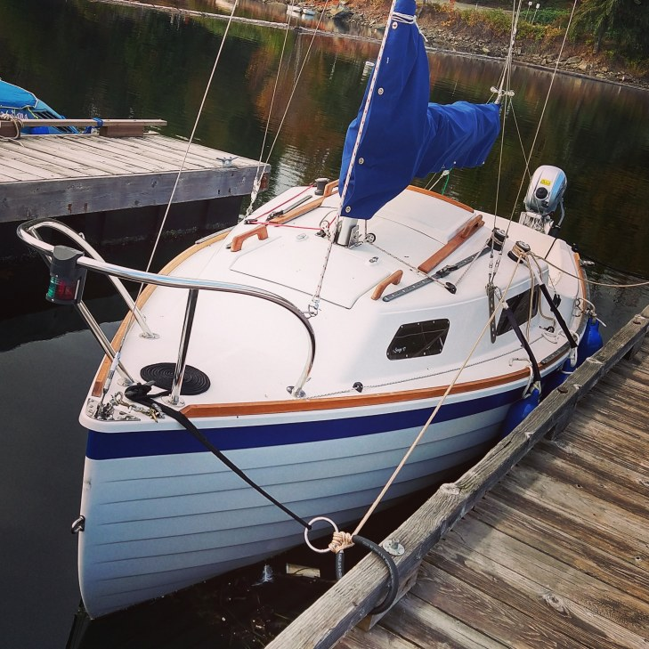 A Sage 17 at Ladysmith - I built this boat.