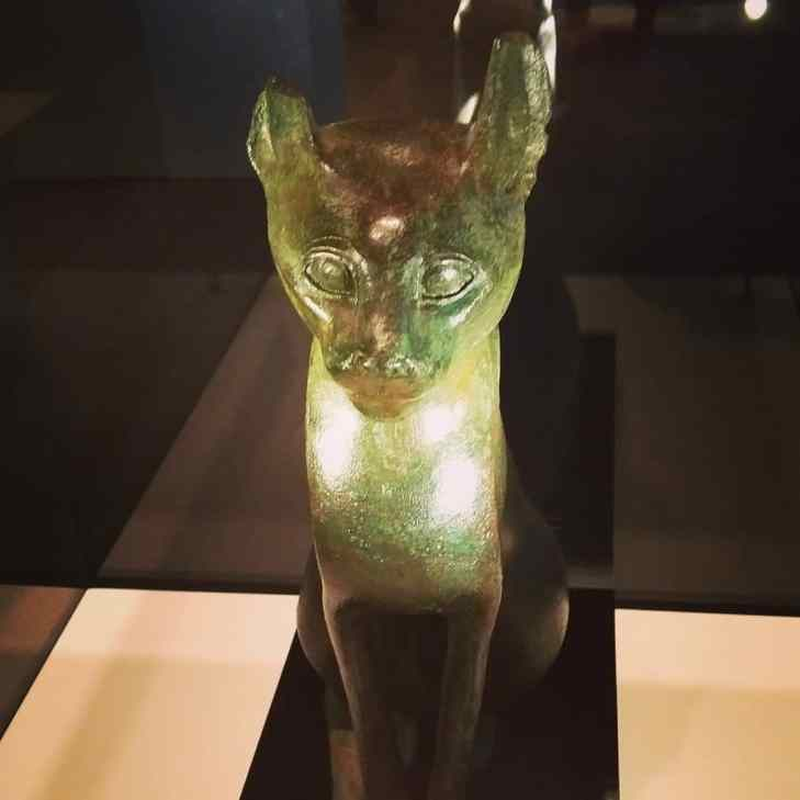 Egyptian cat I'd at Royal BC Museum.