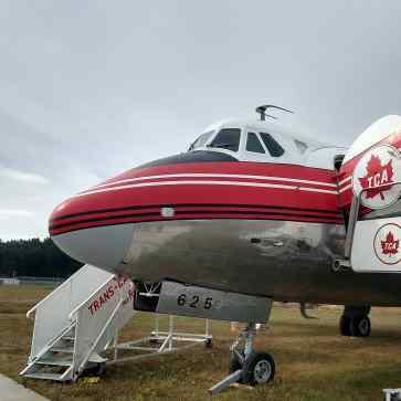 Vickers Viscount turboprop airliner.