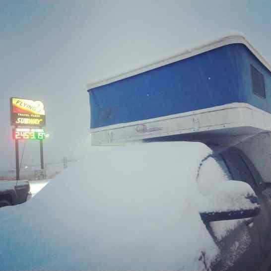 Some snow in Utah.