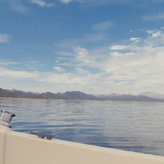 Sailing, OK maybe drifting, at Lake Pleasant, AZ.